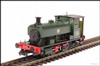 Hattons H4-AB14-002 Andrew Barclay 0-4-0ST 14 2047 705 in GWR green with shirtbutton roundel